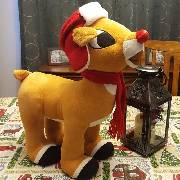 """Rudolph Other - 22"""" Rudolph Reindeer Porch Greeter Sitter"""